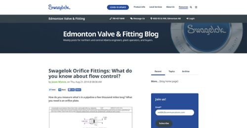 Swagelok Orifice Fittings – What do you know about flow control?