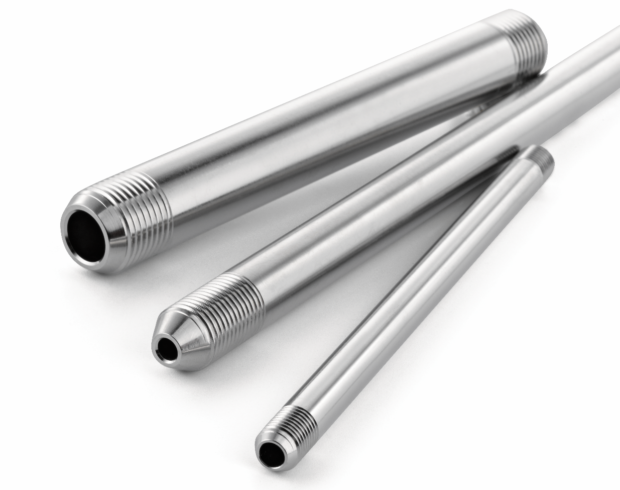 Cone and thread tubing and tube niples