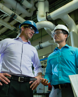 Engineers discuss customer-specific requirements