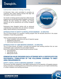 Edmonton Valve Training Services Brochure