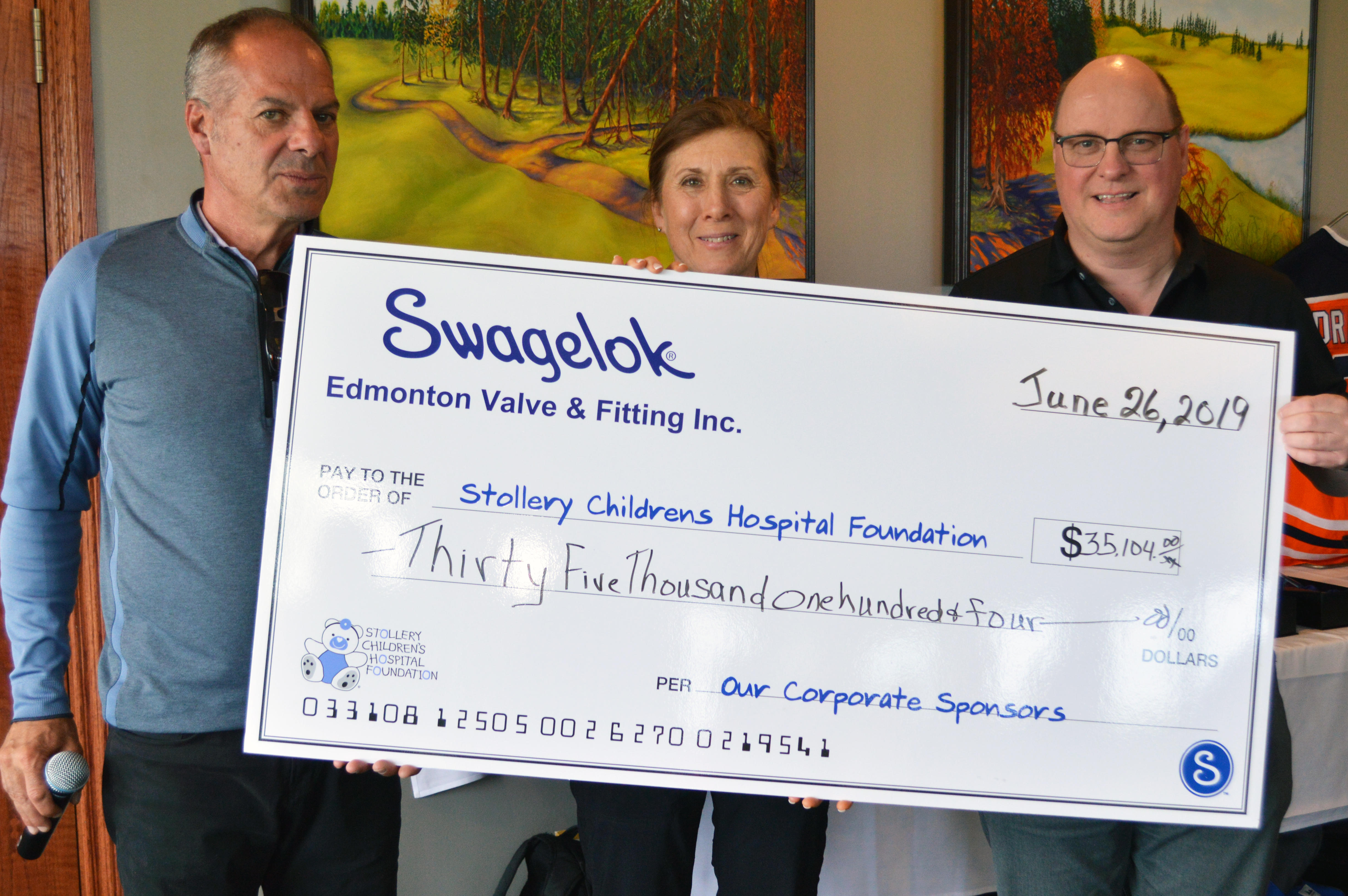 Stollery Golf Tournament Donation