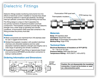 Dielectric Fittings Catalogue