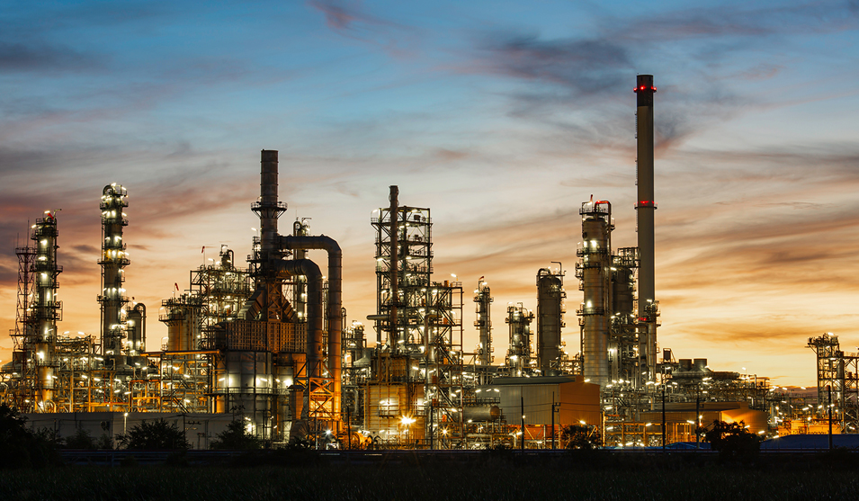 Industrial fluid management systems are used in chemical and petrochemical refining industries