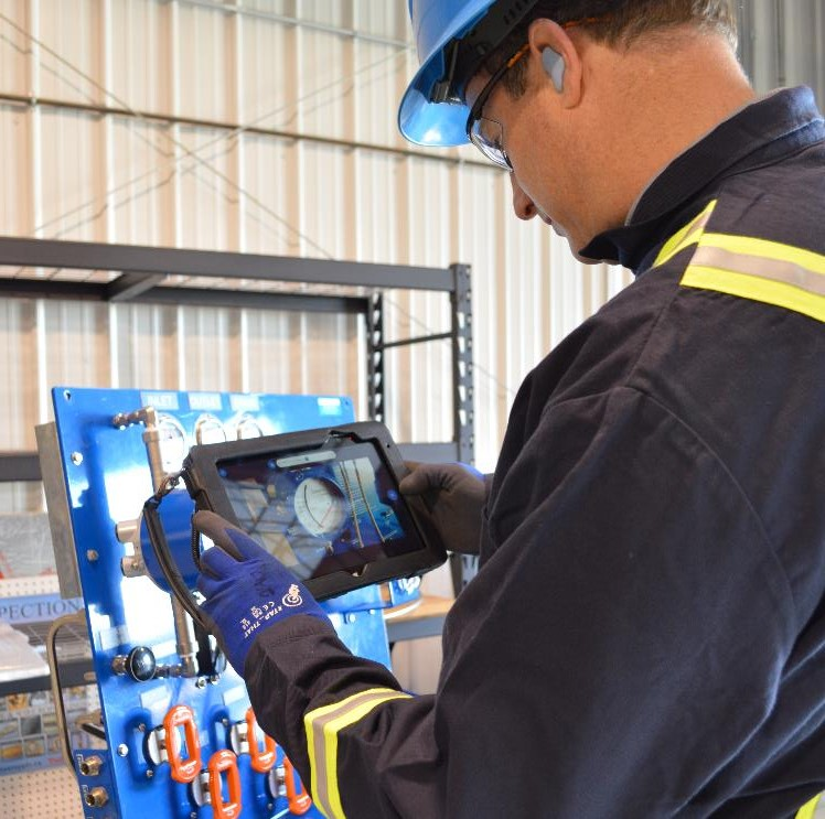 Edmonton Valve's Inspection Services Tablet Allows for Quick Reporting of Onsite Surveys