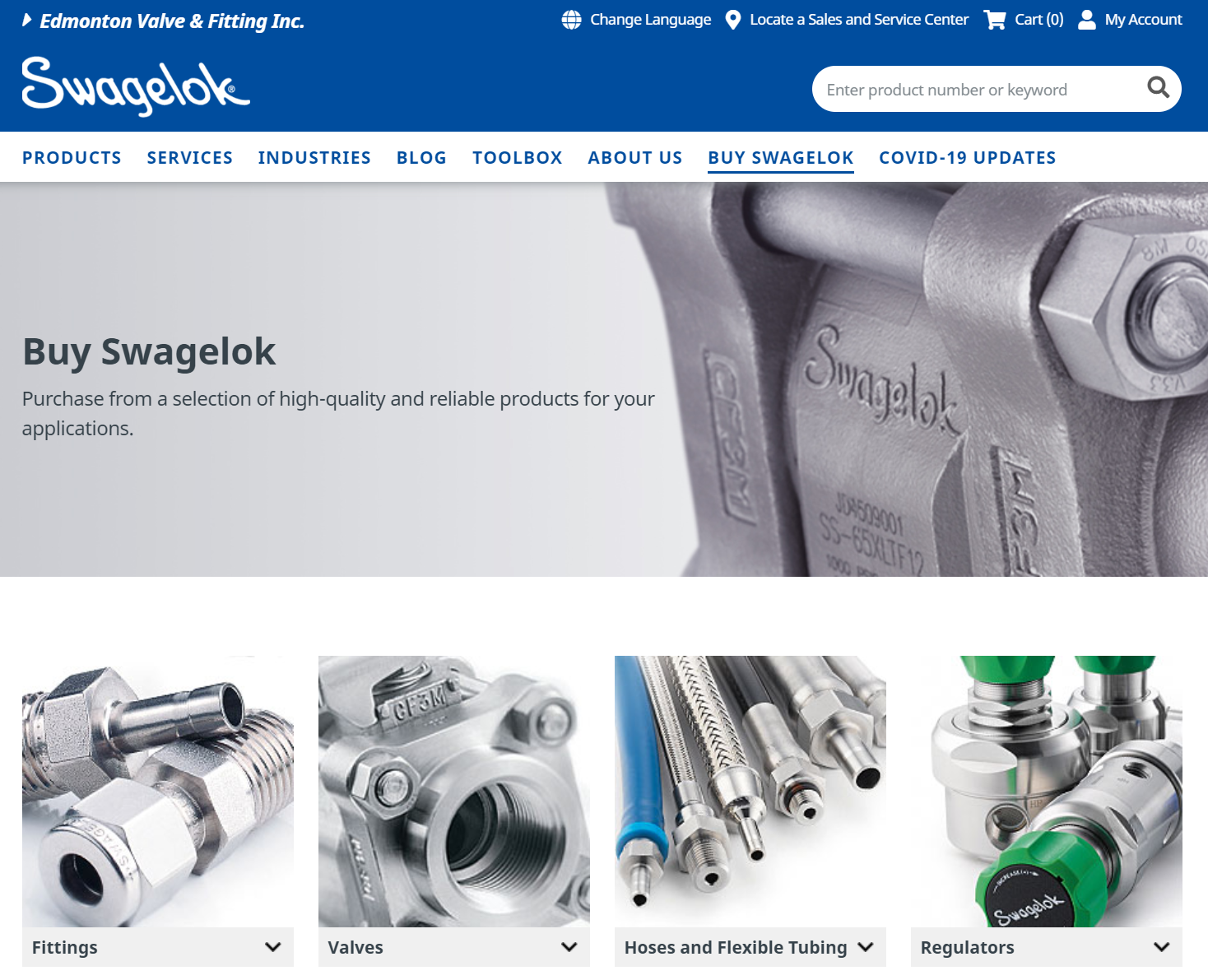 Order Online Using Swagelok's eBusiness Solutions